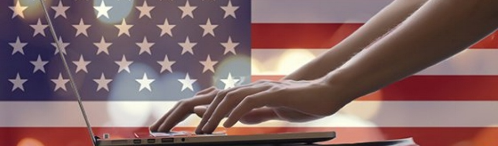 American flag and computer-441613-edited