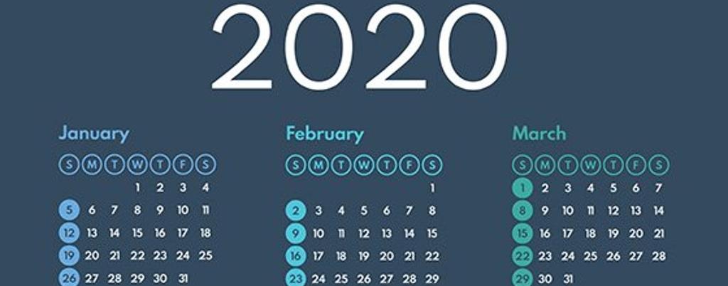 Quarter 1 2020 calendar-1