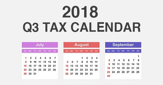 Quarter 3 calendar